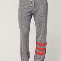 RED STRIPE SWEATPANTS