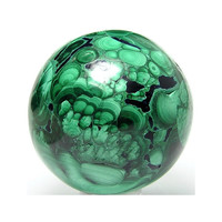 Malachite Variegated Green Polished stone Sphere Congo Top Grade Crystalline Ball