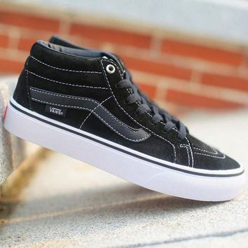 CREYONS Trendsetter Vans SK8-Mid Canvas Ankle Boots Flats Sneakers Sport Shoes