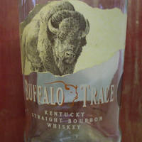 20 Ounce Pure Soy Candle in Reclaimed Buffalo Trace Bourbon Bottle - Your Choice of Scent