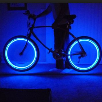 4-Pack Neon LED Tire Lights for Bikes, Cars or Motorcycles