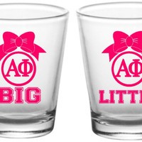 Bow Monogram Shot Glass | Sorority, Big Little, Bride, Bridesmaids