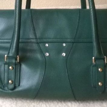 DCCKV2S GUCCI GREEN HANDBAG/ SHOULDER BAG AUTHENTIC