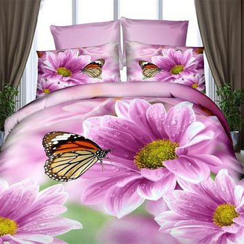 4 PCS 3d bedding sets comforter bedclothes duvet cover set winter bedsheet queen king size Bedlinen flower print HomeTextiles