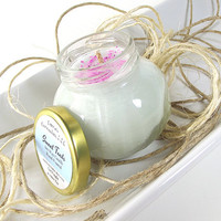 Sweet Tarts scented Soy Candle - Fluorescent Soy Candle -- 4 ounce Jar