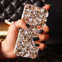Bling Crystal Diamond Phone Case Cover For Iphone 7 6 6S Plus -0324