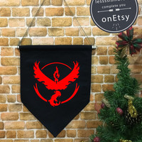 Valor Flag, Valor baner flag hanging wall banner flag, Team Valor, valor team, wall hanging decoration, Pokémon Décor, funny gifts