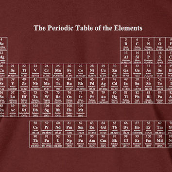 Periodic Table T-Shirt Chemistry  elements Geek Nerd School Science Tshirt Tee Shirt Mens Womens Ladies Youth Kids Geek Funny