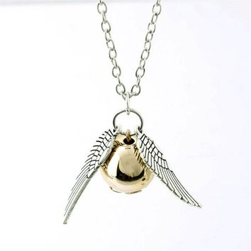 Harry Potter Golden Snitch Necklace Official Bioworld Brand New HP