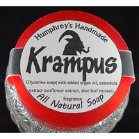 KRAMPUS Soap | Glycerin Peppermint Scent Soap | Unisex | Essential Oil | Beard Wash