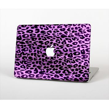 The Vivid Purple Leopard Print Skin Set for the Apple MacBook Air 11""
