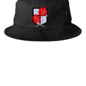 ATTACK ON TITAN rose Bucket Hat, - Bucket Hat