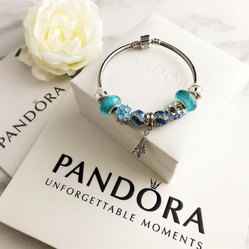 Blue PANDORA Bracelet Charm Beaded Bracelet Jewelry