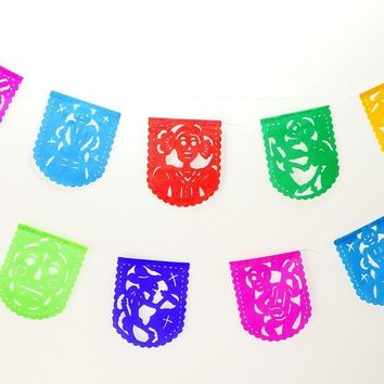 Papel Picado Dia de los Muertos, Day of the Dead Decor, Sugar skull, Skeleton decorations
