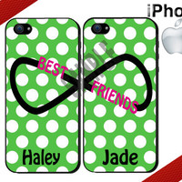 Best Friends iPhone Case - iPhone 4 Case or iPhone 5 Case - Infinity - Polka Dot iPhone Case - Personalized iPhone Cases - Two Case Set