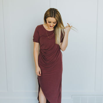 Alexi Dress in Dusty Burgundy