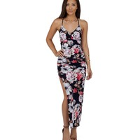 Navy For Floral Days Maxi Dress
