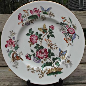 Wedgwood Bone China Charnwood Dinner Plate Vintage Flowers Butterflies