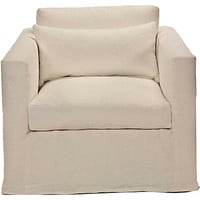 Francis Slipcover Chair, Ivory