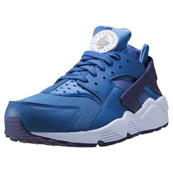 Mens Nike Air Huarache Textile & Synthetic Blue Branded Footwear Shoes Trainers