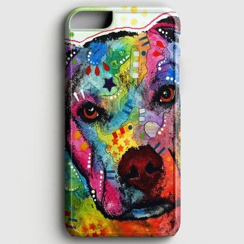 Pitbull Love Painting iPhone 8 Case