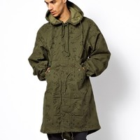 Reclaimed Vintage Military Jacket in Nightvision Camo -