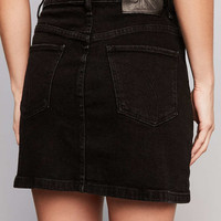 Calvin Klein For UO Black Denim Mini Skirt - Urban Outfitters