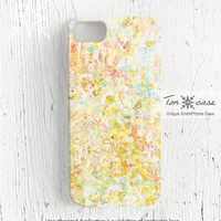 Watercolor iPhone 5 case - iPhone 4 case, art iPhone 4s case, High quality 3D printing, sparkle, light - Shiny watercolor texture (c46)