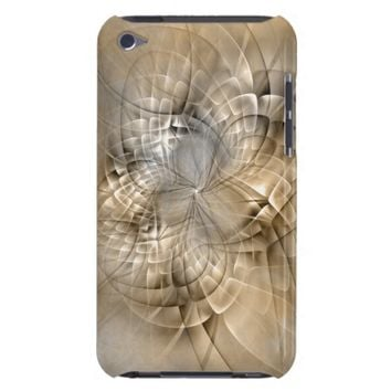 Earth Tones Abstract Modern Fractal Art Texture iPod Case-Mate Case