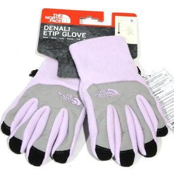 The North Face Girl's Denali Etip Bloom Purple Gloves