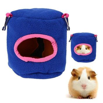 CREYWQA Guinea Pig Hamster Cage Bed Small Animal House Bird Nest Chinchillas Squirrel Bed Guinea Pigs Cute Pet Hamster Products Hot Blue