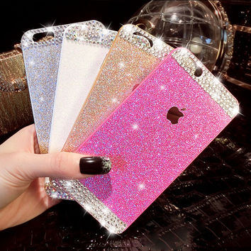 crystal iphone 7 6 6s plus case cover + Free Gift Box