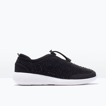 Hot Deal Comfort Hot Sale On Sale Professional Shoes Rhinestone Flat Thick Crust Casual Sneakers Jogging Shoes [4918359876]