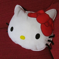 Hello Kitty Handmade decorative Pillow in Felt