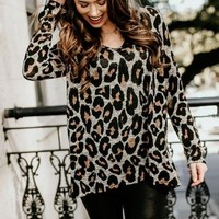 All About Leo Animal Print Top