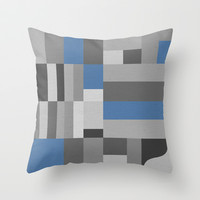 White Rock Blue Throw Pillow by Project M