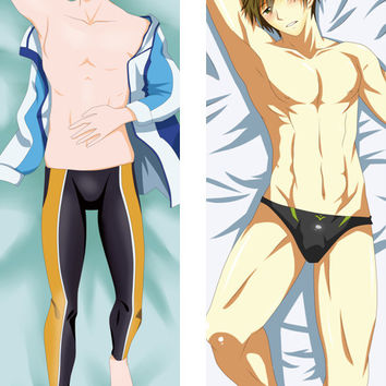 New Free Nagisa Hazuki Male Anime Dakimakura Japanese Pillow Cover MGF040