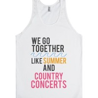 Summer & Country Concerts-Unisex White Tank