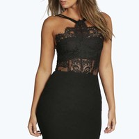 Boutique Sophia Eyelash Bodycon Dress