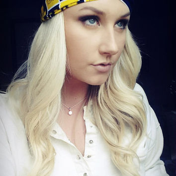 Michigan U of M twist headband