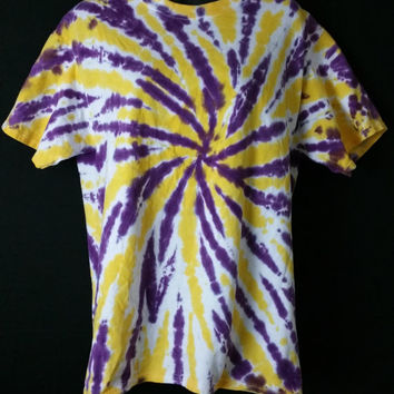 Hand Dyed 2 Color Tie Dye Shirt (LSU)  | Hanes or Gildan | Youth or Adult