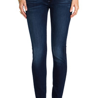 7 For All Mankind The Skinny in Slim Illusion Deep Midnight Blue