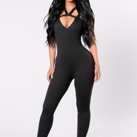 I'm Worth It Jumpsuit - Black