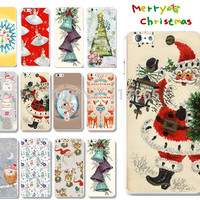 "Lots Style Christmas Xmas Santa Phone Back Hard Cover Case For iPhone 6 4.7"" For New Year Phone Cases EC483"