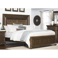 Liberty Twin Lakes Panel Bed In Wire Brush Weathered Chestnut
