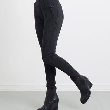 Melanie Double Knit Paneled Legging
