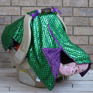 Mermaid Infant Car Seat Canopy