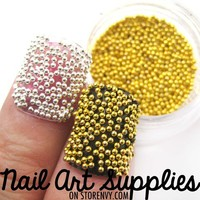 nailartsupplies | Gold Metallic Caviar Beads Nail Art Glitter Mix 5 Grams | Online Store Powered by Storenvy