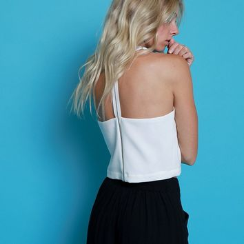 Don't Miss A Moment Crop Top - White