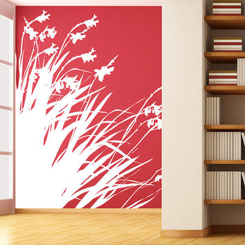 Vinyl Wall Decal Sticker Diagonal Flowers #AC188